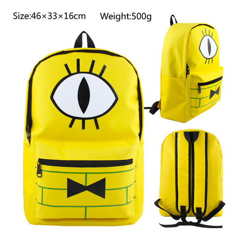 Gravity Falls Bill Cipher School Book Backpack Bag