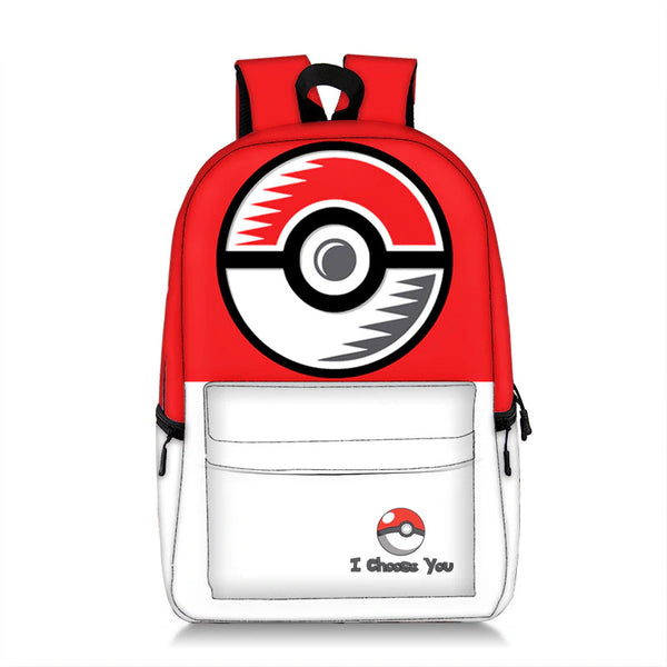 Pokeball Pokemon School Book Backpack Bag