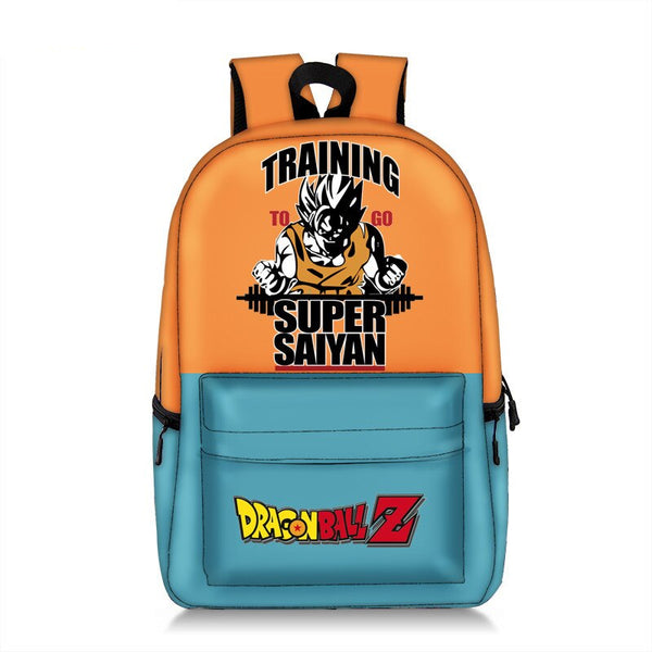 Son Goku Training Super Saiyan School Book Backpack Bag