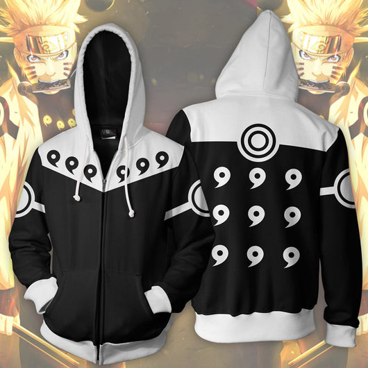 Naruto Six Paths Sage Mode Zipper Hoodie Sweatshirt