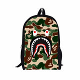 "Shark Camouflage 16"" Backpack Bag"