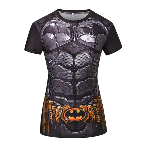 Batman Arkham Knight Women's Compression Fitted Short Sleeve T-Shirt