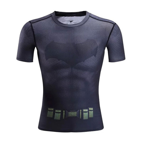 Batman Dawn of Justice Kid's Compression Short Sleeve T-Shirt