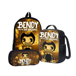 Bendy and the Ink Machine Back To School Set Pencil Case Bag Backpack