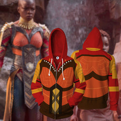 Royal Guard Dora Milaje Zipper Hoodie Sweatshirt