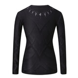 Black Panther Women's Compression Fitted Long Sleeve T-Shirt