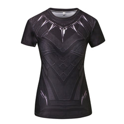 Black Panther Women's Compression Fitted Short Sleeve T-Shirt
