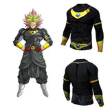 Black Broly Men's Compression Fitted Long Sleeve T-Shirt