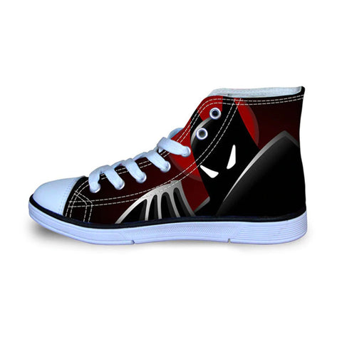 Batman Beyond Animated High Top Vulcanized Canvas Shoes