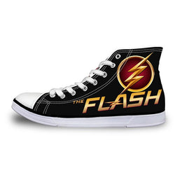 The Flash Barry Allen High Top Vulcanized Canvas Shoes