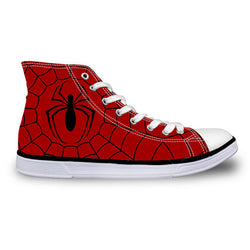 Spider-man High Top Vulcanized Canvas Shoes