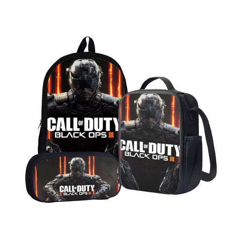 Call of Duty: Black Ops III Back To School Set Pencil Case Bag Backpack