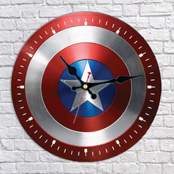 Captain America Shield Wall Clock