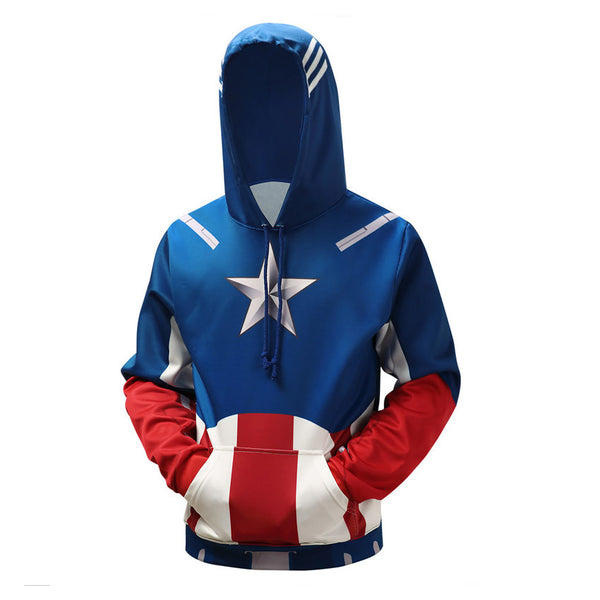 Captain America First Avenger All Over Hoodie Sweatshirt