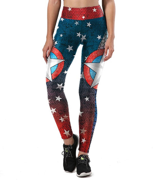 Captain America Fitted Long Pants Legging