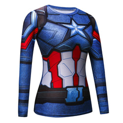 Captain America Civil War Women's Compression Long Sleeve T-Shirt