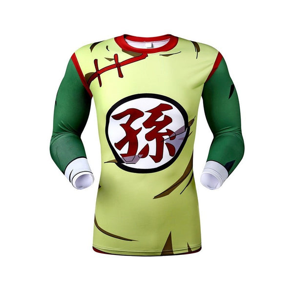 Kid Son Gohan Men's Compression Fitted Long Sleeve T-Shirt