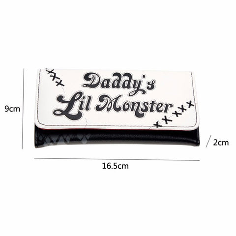 Daddy's Lil Monster Harley Quinn Suicide Squad TriFold Wallet