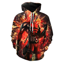 Deadpool All Over Hoodie Sweatshirt