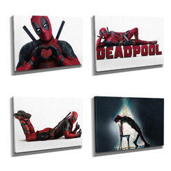 Deadpool Framed Photo Canvas Print