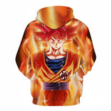Son Goku Super Saiyan God All Over Hoodie Sweatshirt