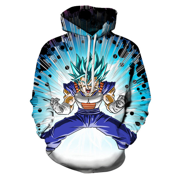 Vegito Super Saiyan Blue All Over Hoodie Sweatshirt