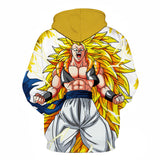 Son Goku Super Saiyan 3 All Over Hoodie Sweatshirt