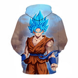 Son Goku Super Saiyan Blue All Over Hoodie Sweatshirt