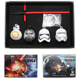 Star Wars The Force Awakens 7 Pcs Collector Set Key Chain Necklace Pendant