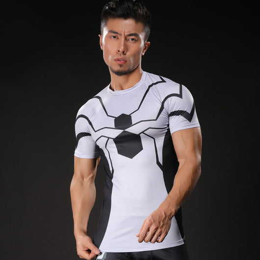cf41d3fd Future Foundation Spider-Man Compression Fitted Short Sleeve T-Shirt –  fancyhouze
