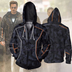Tony Stark Iron Man Infinity War Zipper Hoodie Sweatshirt
