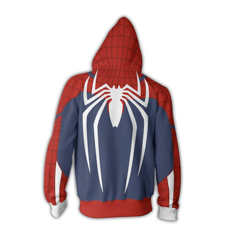 Advance Spider-Man Suit Playstation PS4 Zipper Hoodie Sweatshirt