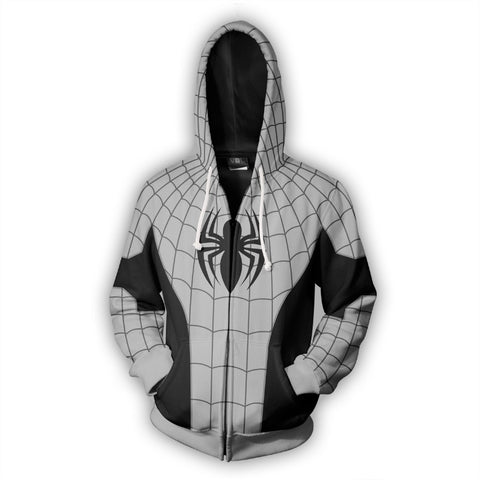 Armored Spider-Man Zipper Hoodie Sweatshirt