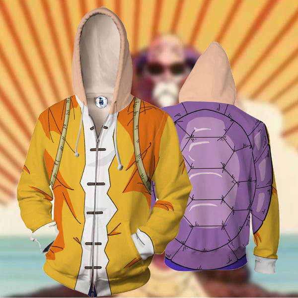 Dragon Ball Master Roshi Zipper Hoodie Sweatshirt