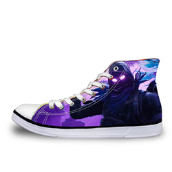 Raven Fortnite Battle Royale High Top Vulcanized Canvas Shoes