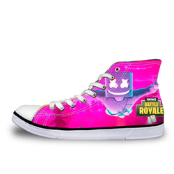DJ Marshmello Fortnite Battle Royale High Top Vulcanized Canvas Shoes