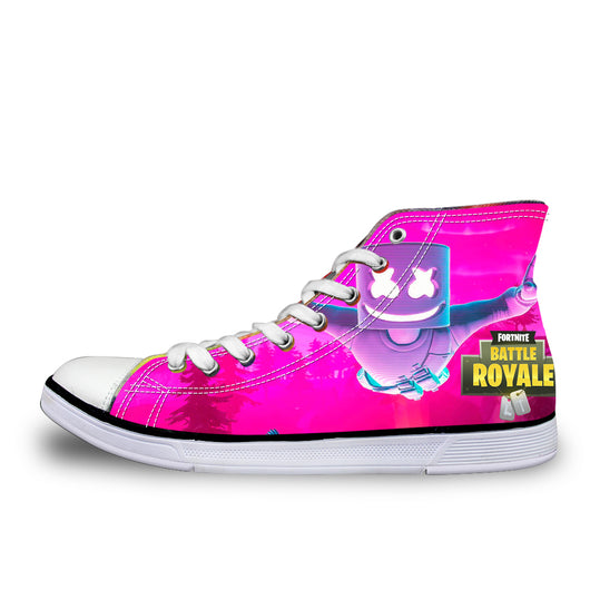 Fortnite Style 3 Low Top Canvas Sneakers Athletic Shoes