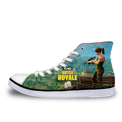 Fortnite Battle Royale High Top Vulcanized Canvas Shoes