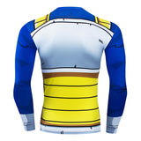 Vegeta Battle Armour Compression Fitted Long Sleeve T-Shirt