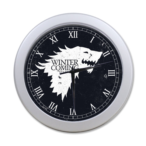 Game of Thrones House Stark Elegant Round Wall Clock