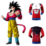 Son Goku Super Saiyan SSJ4 Men's Compression Fitted Long Sleeve T-Shirt