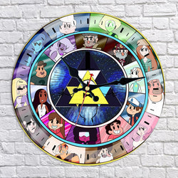 Gravity Falls Bill Cipher and Friends Wall Clock