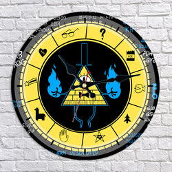 Gravity Falls Bill Cipher Zodiac Wall Clock