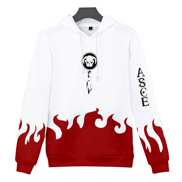 Whitebeard Pirates Fire Fist Portgas D Ace All Over Hoodie Sweatshirt