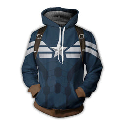 Captain America All Over Hoodie Sweatshirt