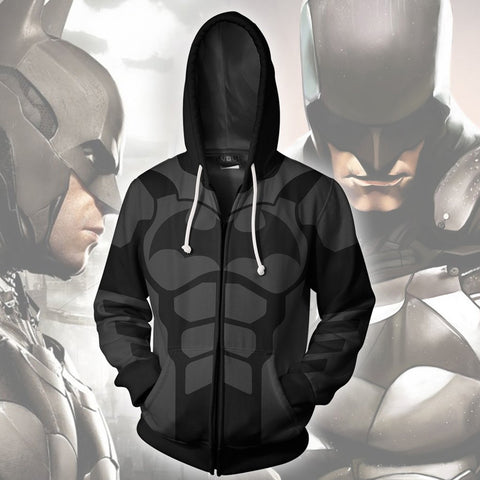 Batman Arkham Knight Zipper Hoodie Sweatshirt