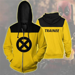 Deadpool X-Men Trainee Zipper Hoodie Sweatshirt