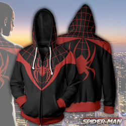 Miles Morales Ultimate Spider-Man Zipper Hoodie Sweatshirt