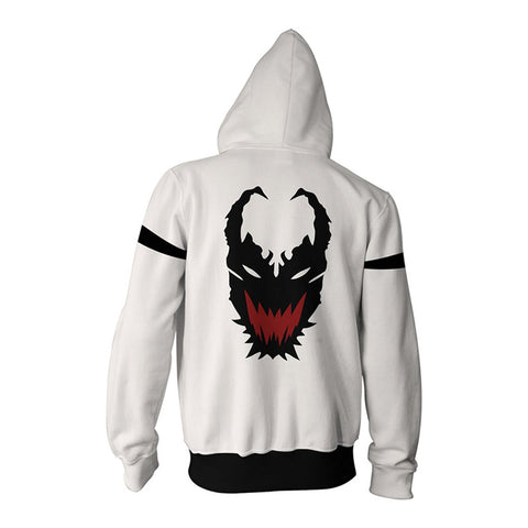 Anti-Venom Spider-Man Unlimited Zipper Hoodie Sweatshirt