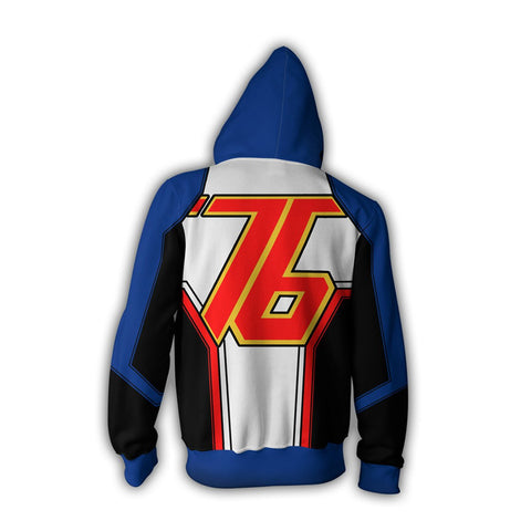 Overwatch Soldier 76 Zipper Hoodie Sweatshirt
